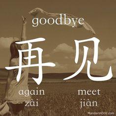 #goodbye #chinese #china #rebus #hsk