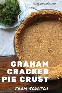 Graham Cracker Pie Crust From Scratch that you can bake or make as a no bake version. Made with real butter, granulated sugar and fresh graham crackers. Perfect for any cream or fruit filled pie. Graham Cracker Crust, Graham Crackers, Cookie Recipes, Dessert Recipes, Desserts, Pie Crust From Scratch, Baked Pie Crust, Recipe Filing, No Bake Pies