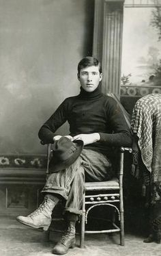 Studio portrait of young man sitting on a chair, his left leg over his right, holding a hat. This image is part of a collection of over 6,000 glass plate negatives created by Charles J. Van Schaick. Van Schaick learned the art of photography after moving to Jackson County, Wisconsin. In 1885, he opened a studio in Black River Falls, Wisconsin and served as the town photographer for over 50 years. His work includes both studio portraits and richly varied and intimate snapshots of…