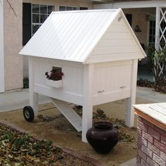 """CLUCK"" - My Victorian Chicken Coop by Leslie Doyle, via Flickr"