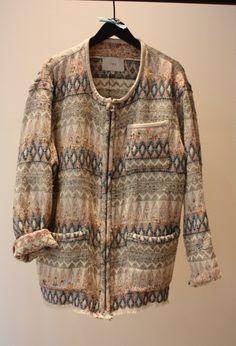 Oversized printed jacket.  IRO SS 2013