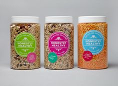 Honestly Healthy: identity and packaging for a health food brand // And Smith