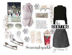 """""""Ice Skating"""" by carmen-georgiana ❤ liked on Polyvore featuring Riedell, Ermanno Scervino, Drome, Victoria Beckham, Ray-Ban, Aéropostale, Anja, WhatToWear, winterstyle and byCarmen"""