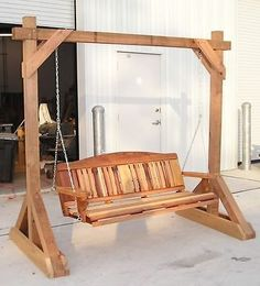 Woodworking Plans - Free Standing Porch Swing Stand | Home & Garden, Home Improvement, Building & Hardware | eBay!