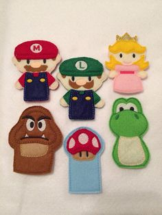 Finger Puppets-- Mario Brothers on Etsy, $18.00                                                                                                                                                                                 More