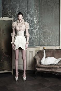 Lourdes Coteron photographed by Oskar Cecere for Byblos, Fall 2011
