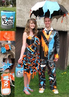 Okay, as awesome as this dress+suit is, I'm not sure if I would wear a duct tape dress to my prom or not. BUT I STILL LOVE HOW FABULOUS THIS PAIR IS!!!
