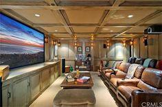 Media room in luxury home in Irvine, California