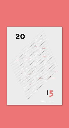 Wall calendar 2015. Great design and typography.