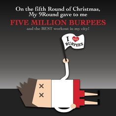 Burpees… it's a love/hate relationship! What if you woke up and your 9Round trainer gave you the gift of five million burpees? That would be reason to thank your trainer for the amazing body and gift of excellent health they helped you achieve. Love all nine rounds! #burpeelover #9RoundWaukesha