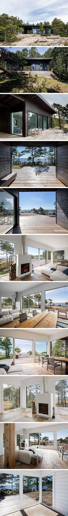 Маленький дом на острове от Pluspuu  #tinyhomesdigest #tinyhouse #ecohouse