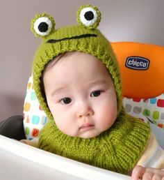 Green Frog Coverall  hat 612 months by NYrika on Etsy, $33.00