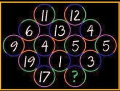 What number should replace the question mark? Maths Puzzles, Question Mark, Number, This Or That Questions, Math Puzzles Brain Teasers