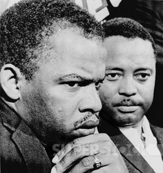 John Lewis (left) and Hosea Williams, leaders of the Voting Rights campaign in Selma Alabama in February-March 1965. Both men were later elected to the US House of Representatives from Georgia.