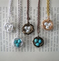 Bird Nest Necklace - After I have my 3rd child and my nest is complete, I will buy myself one of these <3