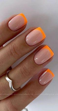 Pretty Natural Short Square Nails Design For Summer Nails - - Nails Design Colorful Nail Designs, Acrylic Nail Designs, Nail Art Designs, Nails Design, Shellac Nail Designs, Cute Summer Nail Designs, Short Nail Designs, Simple Acrylic Nail Ideas, Neutral Nail Designs