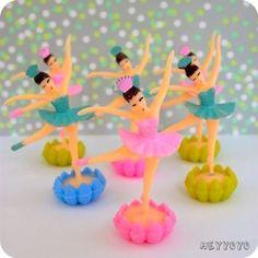 vintage ballerina cupcake toppers $8.00