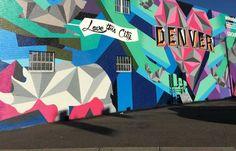 The Best Denver Street Art | VISIT DENVER Denver City, Denver Colorado, Colorado Trip, Mural Art, Wall Art, Murals, Denver Travel, Visit Denver, Graffiti Wall