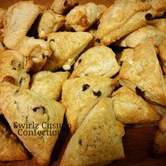 Double chocolate scones www.swirlzcustomconfections.com