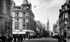 Old photograph of the High Street, Perth, Perthshire, Scotland