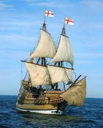 Mayflower ship, an exact replics sailed from England to New England