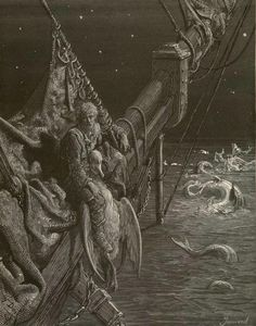 Gustave Dore, Rime of the Ancient Mariner, Plate 20: I watched the water-snakes