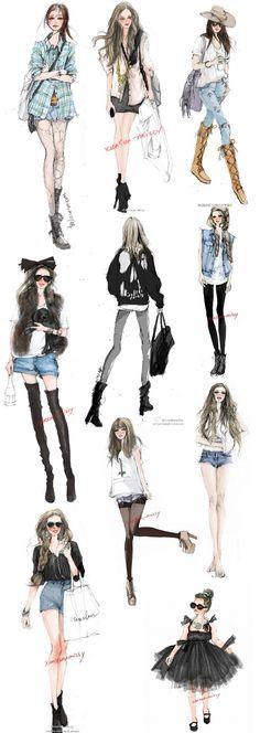 Xunxun Missy - fashion #illustrations