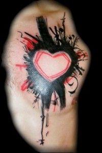 heart tattoo by Math