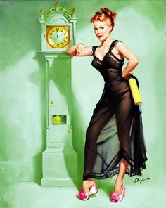 """The Honeymoon's Over"" by Gil Elvgren (1949)"
