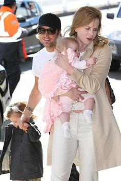 Nicole Kidman, Keith Urban and their two girls.