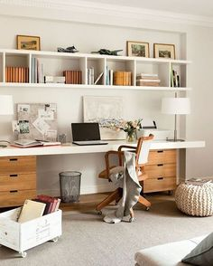 I'm currently in the works of re-configuring my office space. This home office looks so inviting, I wish I worked right there! #homeoffice #officespace #inspiration #pinterest #office #workspace #wheremagichappens #design #interior