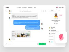 Snug - Messages - Real Project app  chat  dashboard  design  inbox  interface  message  messaging  ui  user  ux  web