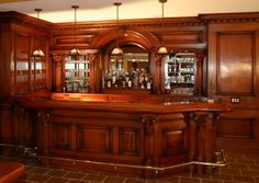 Residential Bars and interior woodwork by Wood & Laminates, Inc. Custom wood bars and interiors
