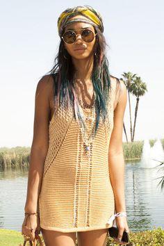 Chanel Iman with Dip-Dye-Hair