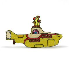 The Beatles Yellow Sub Submarine Embroidered Iron on Patch