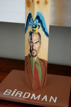 Birdman. Handcrafted handpainted wooden by QrtosCreations