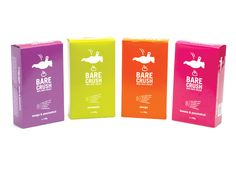 Bare Crush fruit icicles. Packaging by Braincells.