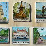 Magnet biserici fortificate- Transilvania   festART Coasters, Baseball Cards, Coaster