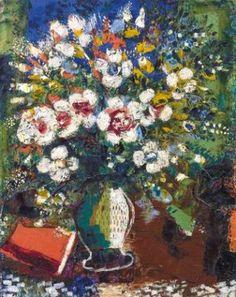 Marc Chagall (1887-1985) Fleurs, 1924, Öl/Leinwand, 72 x 57 cm, erzielter Preis € 1.022.500