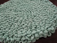 Hand Crocheted Round Flower Pattern Round Rug Plush Crocheted