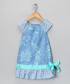 Take a look at this Periwinkle Flower Ruffle Peasant Dress - Toddler & Girls by Just Ducky Originals on #zulily today!  next year's Easter dress?
