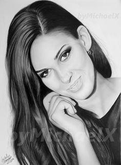 Complete - - 40 hours) - drawing pencil - Miss Czech Republic 2009 Aneta Vignerova WIP Visit my . Drawing pencil - Miss Czech Republic 2009 Girl Drawing Images, Pencil Drawings, Art Drawings, Michael X, Watercolor Portraits, Woman Face, Czech Republic, Cool Girl, Deviantart
