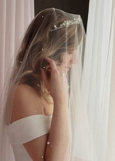 AGNES pearl wedding AGNES pearl wedding tiara 8