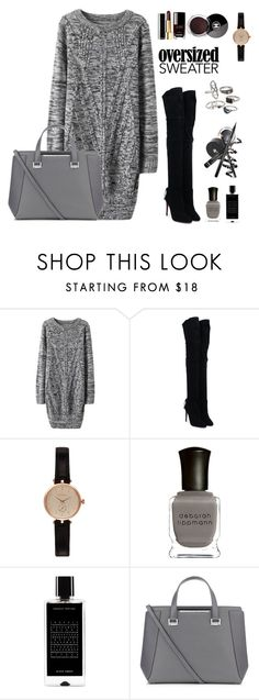 """""""Untitled #60"""" by nuetralvibe ❤ liked on Polyvore featuring Aquazzura, Chanel, Barbour, Deborah Lippmann, Agonist, Jimmy Choo and Mudd"""