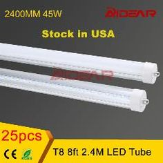 [ $25 OFF ] Stock In Usa 8Ft T8 Led Tube Light 2400Mm Lamp Tubes 85-265V Factory Price No Tax
