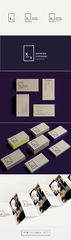 Katrien Steyaert - Journalist on Behance| Fivestar Branding Gallery and Inspiration / Branding / Ideas / Inspiration / Brand / Design / Journalist / Minimal / Navi / Line Art / Color Block / Somber / Modern / Elegant