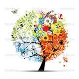 Tree In Four Seasons Tattoo add a pumpkin