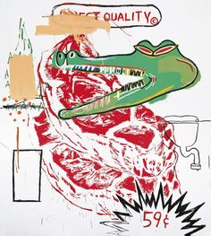 Jean-Michel Basquiat (1960-1988) and Andy Warhol (1928-1987) Untitled (Collaboration #23)