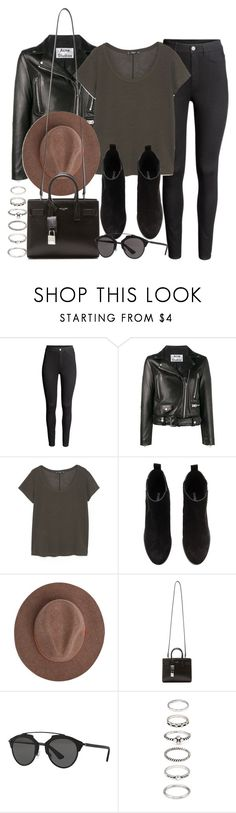 """Sin título #12012"" by vany-alvarado ❤ liked on Polyvore featuring H&M, Acne Studios, MANGO, Yves Saint Laurent, Christian Dior and Forever 21"