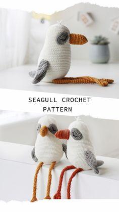 Crochet Sloth, Crochet Animal Amigurumi, Amigurumi Toys, Crochet Animals, Softies, Sock Animals, Clay Animals, Crochet Bird Patterns, Crochet Birds